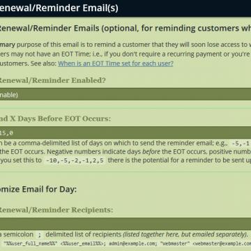 Automatisierte Mails Jahresbeitrag